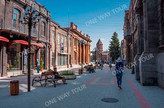 Die Abovian Straße, Gyumri