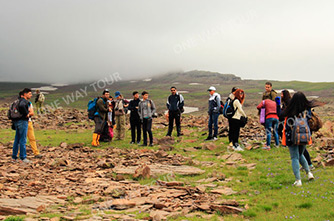 Hiking to Mount Aragats